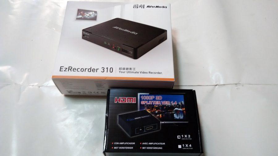 ▲ER310 和贈品HDMI分配器。